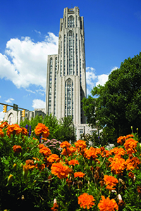The Cathedral of Learning on the campus of the University of Pittsburgh. Photo courtesy of Visit PIttsburgh.