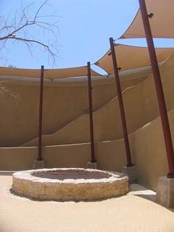 The visitors' center at Abraham's Well. Photo by Esther Hecht.