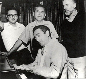 From left: Harnick, Joseph Stein, Jerry Bock and Jerome Robbins.