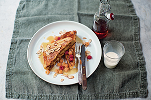 Almond French Toast with Rasberries