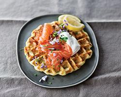 Potato Waffles with Gravlax