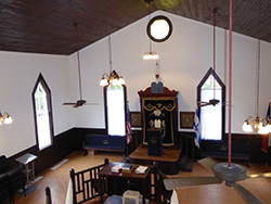 B'nai Abraham Brenham Historic Synagogue.  Photo by Helen Lippman.