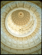 Rotunda of the Texas State Capitol. Photo courtesy of Austin Convention and Visitors Bureau.