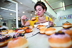 Lehamim's excellent pastries. Photo by Tomer Appelbaum.