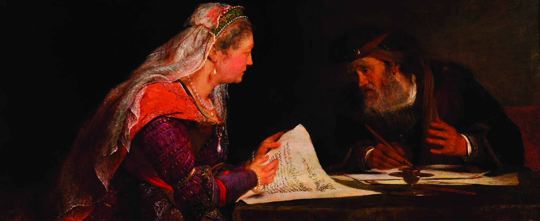 Aert de Gelder, 'Esther and Mordecai,' ca. 1685. Museum Appropriation Fund. Courtesy of the RISD Museum, Providence, RI.