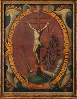 Painting with the Inquisition Emblem Mexico, 17th century Private Collection Photo by Jorge Pérez de Lara