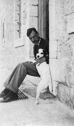 Harrison and his dog, Bogie, in Jerusalem.