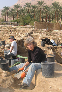 The excavation site at Ein Gedi. Photo by Esther Hecht.