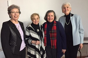 (from left) Rae Gurewitsch, Judy Padolf, Ruth Cole and Ruth Grossberg.