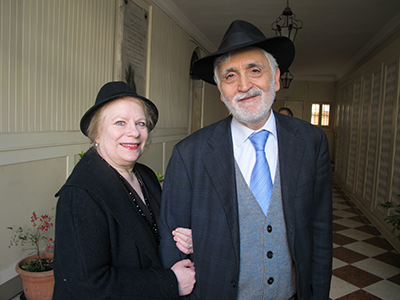 Chief Rabbi Scialom Bahbout and Lenore Rosenberg Bahbout. Photo by Ruth Ellen Gruber.