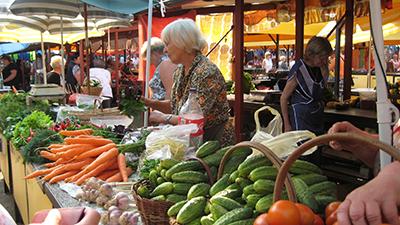 Vilnius's Halles Market. Photo by Ellen Cassedy.