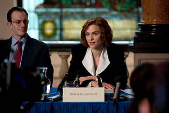 Rachel Weisz plays Deborah Lipstadt in 'Denial.' Photo by Laurie Sparham/Bleecker Street.