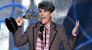 Jill Soloway accepts the award for outstanding directing for a comedy series for ìTransparentî at the 68th Primetime Emmy Awards on Sunday, Sept. 18, 2016, at the Microsoft Theater in Los Angeles. (Photo by Vince Bucci/Invision for the Television Academy/AP Images)