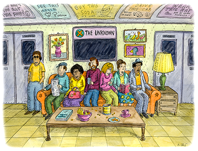 'Subway Sofa,' ©Roz Chast. All rights reserved.