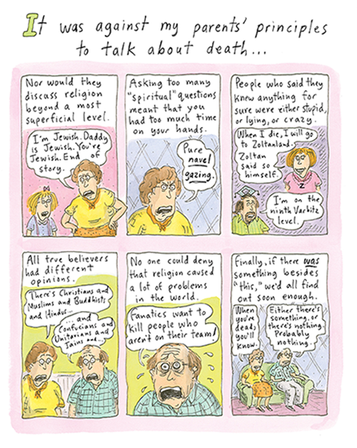 From 'Can't We Talk About Something More Pleasant?/ ©Roz Chast, all rights reserved.