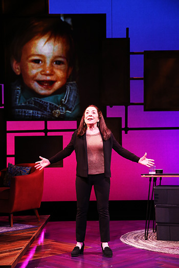 Monica Piper in her one-woman show 'Not that Jewish.' Photo by Carol Rosegg.