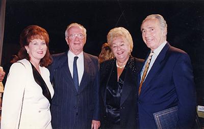 From left: Marlene Post, Yitzhak Rabin, Deborah Kaplan and Shimon Peres.
