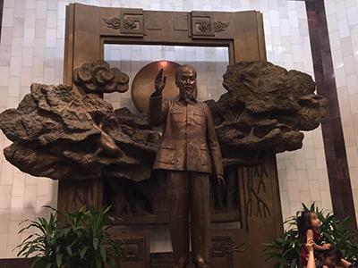 Ho Chi Minh statue in Hanoi.