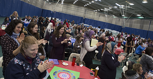 Participants at the third annual Muslim & Jewish Women Leadership Conference. Photo courtesy of Drew University/Karen Mancinelli.