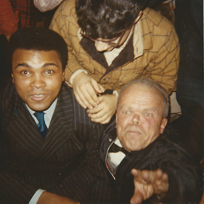 Mace Bugen with Muhammad Ali.