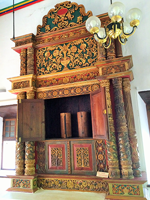 The Ark at the Chendamangalam synagogue.