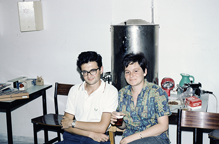 Patricia and Lionel Levinson waiting for the all clear in an air raid shelter during the Six-Day War.