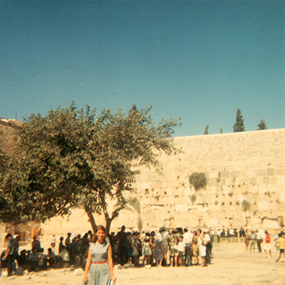 Roselyn Bell at the Kotel in 1967.