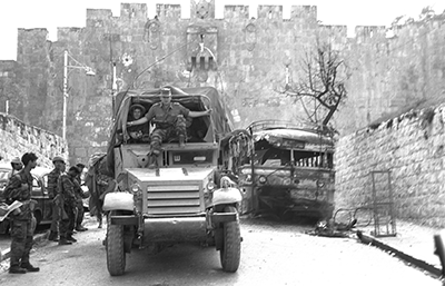 Victorious Israeli forces outside of Lion's Gate in Jerusalem. All photos courtesy of the Israel National Photo Collection.