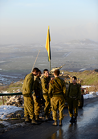 An elite brigade secures Israel's border with Syria along the Golan Heights.